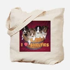 Canei_puppies_in_basket_square_iloveshelt Tote Bag