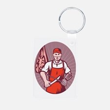 Butcher sharpening knife i Keychains