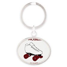 MommyDerby-Light Oval Keychain