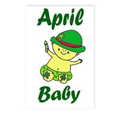 April Baby_png Postcards (Package of 8)