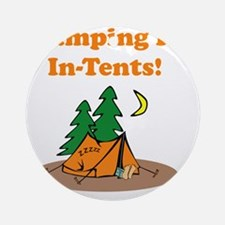 Camping InTents Orange Round Ornament