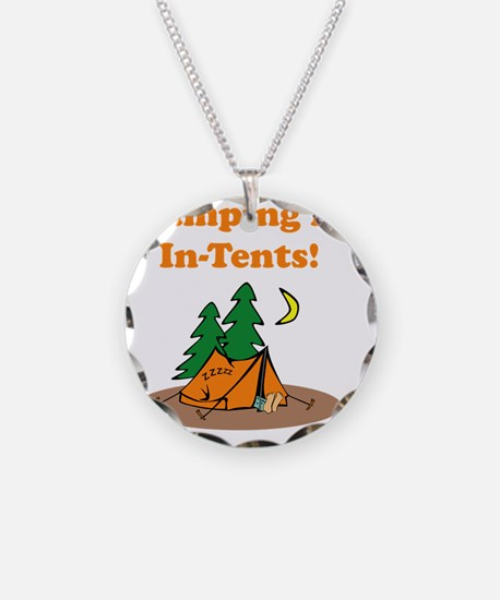 Camping InTents Orange Necklace