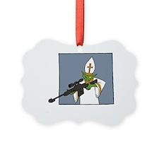 vatican assassin warlock white Ornament