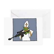 vatican assassin warlock white Greeting Card