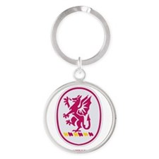 3-13 F A   WITH TEXT Round Keychain