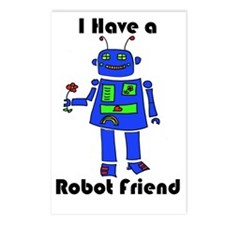 Robot_png Postcards (Package of 8)