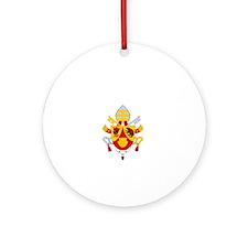 Vatican Assassin - dk Round Ornament