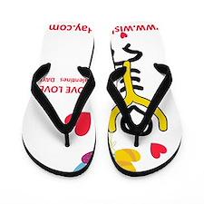 Love@WishboneDay Flip Flops