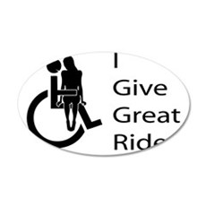 i-give-great-rides2 35x21 Oval Wall Decal