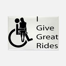 i-give-great-rides2 Rectangle Magnet