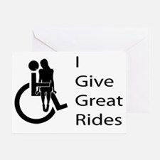 i-give-great-rides2 Greeting Card