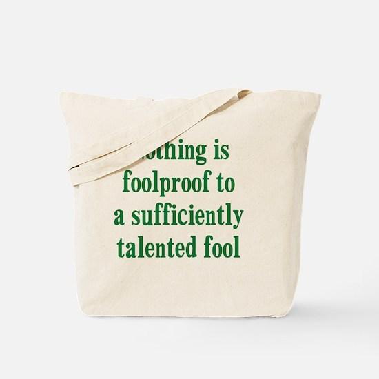 talented-fool_tall2 Tote Bag