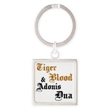 tiger-blood Square Keychain