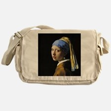 Girl With a Pearl Earring Messenger Bag