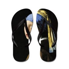 Girl With a Pearl Earring Flip Flops