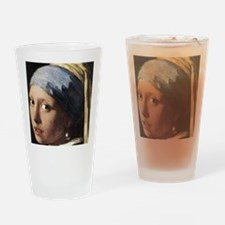 Girl With a Pearl Earring (detail) Drinking Glass