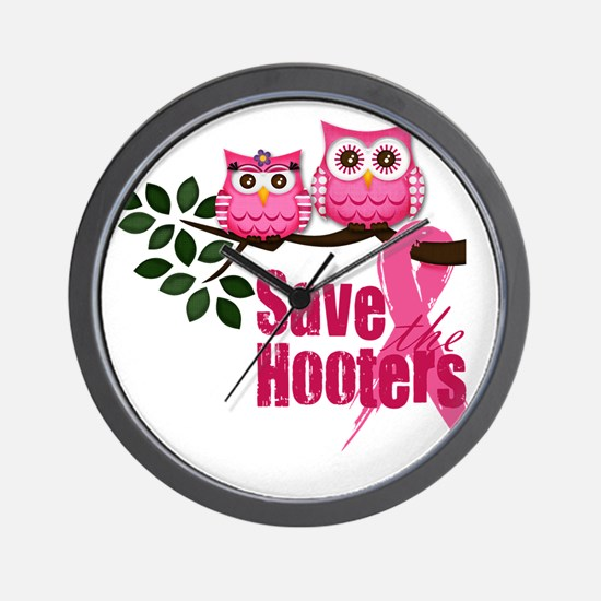 save the hooters2 Wall Clock