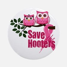 save the hooters2 Round Ornament