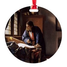 The Geographer Round Ornament