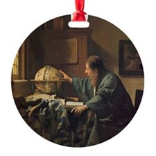 The Astronomer Round Ornament