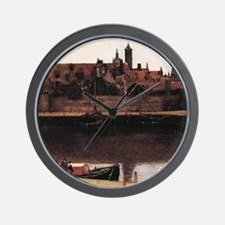 View of Delft (detail) Wall Clock