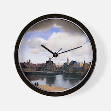 View of Delft Wall Clock
