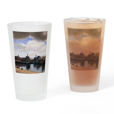 View of Delft Drinking Glass