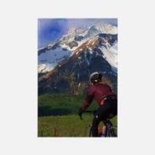 Cycling_the_Rockies_iPhone Rectangle Magnet