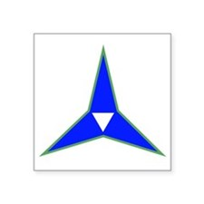 "SSI - III Corps Artillery Square Sticker 3"" x 3"""