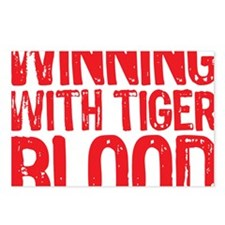 Winning With Tiger Blood Postcards (Package of 8)