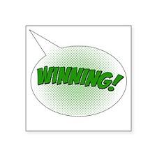 "winning Square Sticker 3"" x 3"""