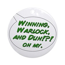winningwarlockandduh Round Ornament