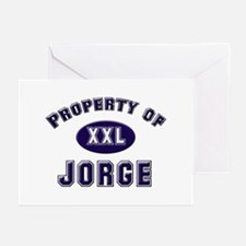 Property of jorge Greeting Cards (Pk of 10)