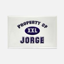 Property of jorge Rectangle Magnet