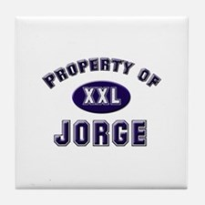 Property of jorge Tile Coaster