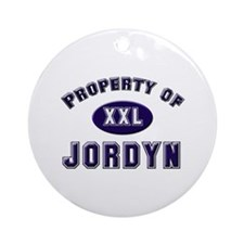 Property of jordyn Ornament (Round)