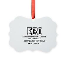 AIRPORT CODES - ERI - ERIE, PENNS Ornament