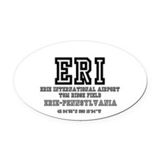 AIRPORT CODES - ERI - ERIE, PENNSY Oval Car Magnet