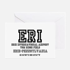 AIRPORT CODES - ERI - ERIE, PENNSYLV Greeting Card