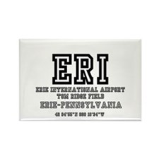AIRPORT CODES - ERI - ERIE, PENNS Rectangle Magnet
