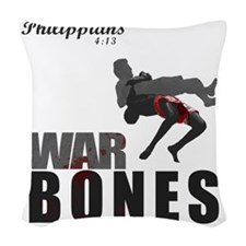 Bones2_tshirtGraphics Woven Throw Pillow