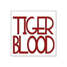 """tigerblood_trans Square Sticker 3"""" x 3"""""""