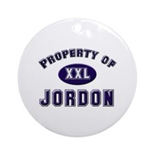 Property of jordon Ornament (Round)