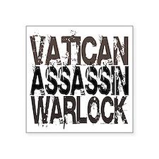 """warlock Square Sticker 3"""" x 3"""""""
