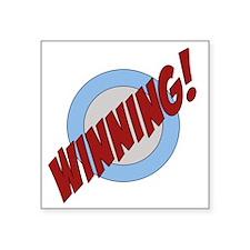 "winning_trans2 Square Sticker 3"" x 3"""
