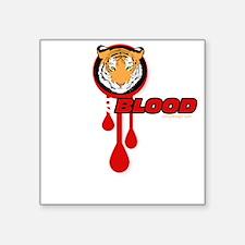 """tigerbloodDARK Square Sticker 3"""" x 3"""""""