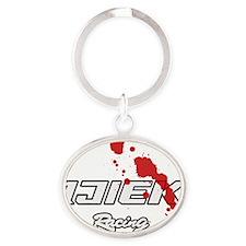 dr-ijiek-blank-blood-full Oval Keychain