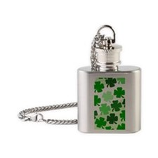 Shamrock 3G iphone case Flask Necklace