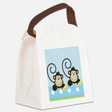 Silly Monkeys iphone 4g case Canvas Lunch Bag