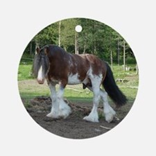 coverCLYDESDALE Round Ornament
